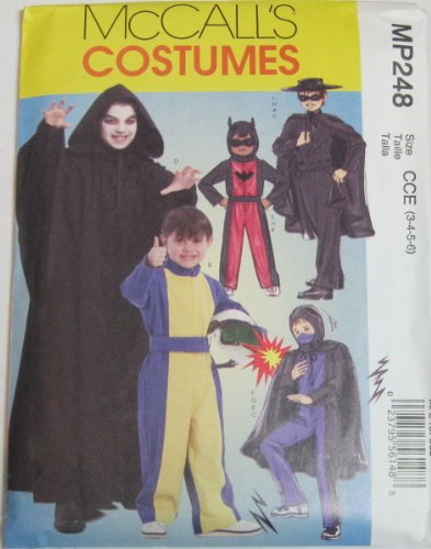 Mccalls Pattern Costumes #Mp248 Size 3-4-5-6 - Lone Ranger Costume Pattern