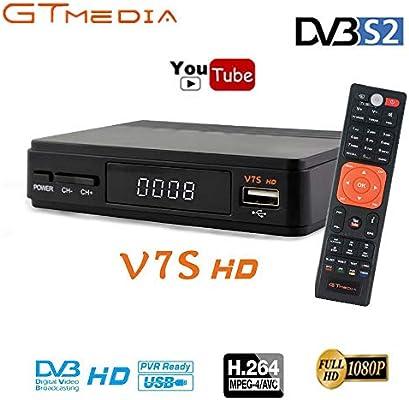 GT MEDIA V7S HD Satellite Receiver FTA DVB S2 Sat Finder Set Top Box Full  HD 1080p Support PVR, Newcam, Youtube, PowerVu, Dre & Biss Key via USB Wifi