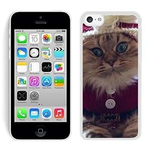 Niche market Phone Case Iphone 5C TPU Case Christmas Cat White iPhone 5C Case 42