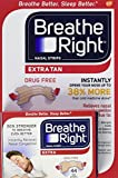 Breathe Right Nasal Strips, Tan, 44 Strips