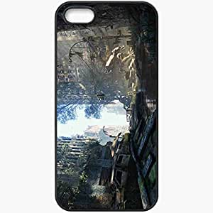 Protective Case Back Cover For iPhone 5 5S Case Krayzis Post Apocalypse Destruction Black