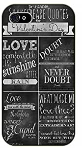 iPhone 6+ Plus Shakespeare quotes, love - black plastic case / Inspirational and motivational by SHURELOCK TM