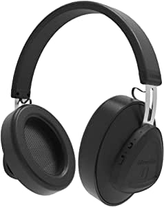 Bluedio TMS Bluetooth Headphones Over Ear, Active Noise Cancelling Headphones 57mm Drivers Wireless Headsets for Travel Work Cellphone, Black