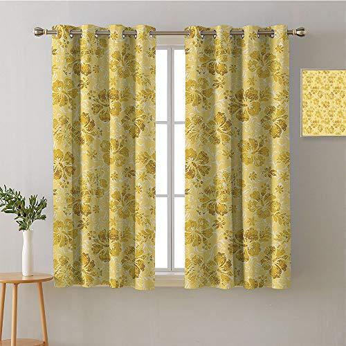 "homecoco Curtain Door Panel Grommets Window Darkening Curtains Decorative Darkening Curtains Modes Darkening Curtains Room Darkening Curtains(1 Pair, 36"" Width x 45"" Length Each Panel)"