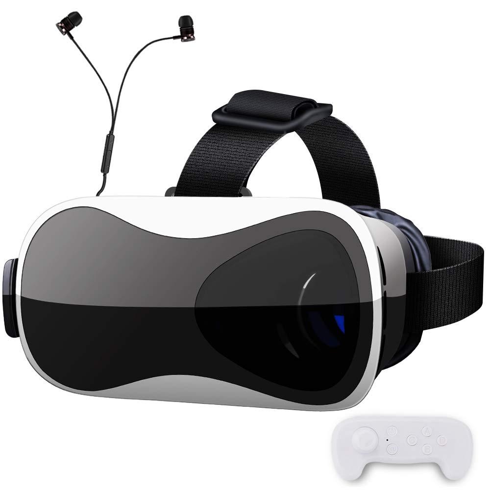 【 最新版 Gugusure】VRゴーグル VRヘッドセット ピント調整可能 メガネ対応 3.5~6.0インチのiPhone/andorid 「イヤホン、Bluetoothコントローラ、日本語説明書付属」ブラック product image