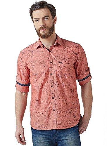 06cdb97c Crimsoune Club Orange Printed Casual Shirt Medium: Amazon.in: Clothing &  Accessories