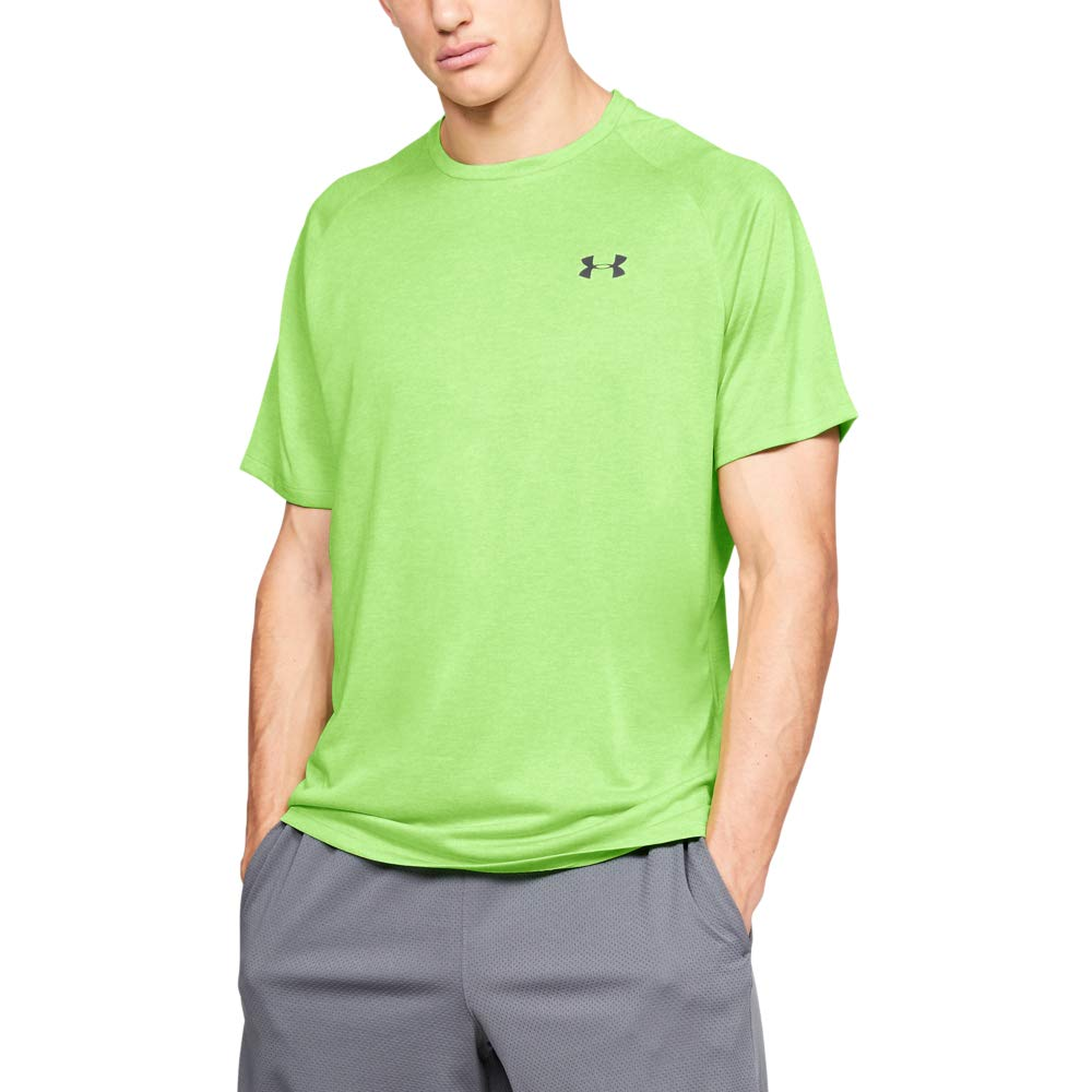 UNDER ARMOUR mens Tech 2.0 Short Sleeve T-Shirt, Zap Green (722)/Jet Gray, XX-Large Tall by Under Armour