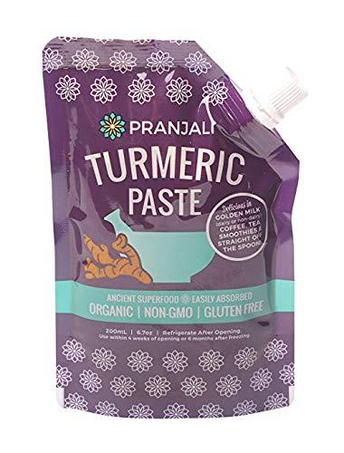 Pranjali Turmeric Paste (Golden Paste), Organic, Non-GMO, Gluten-free, 6.7 ounces ()