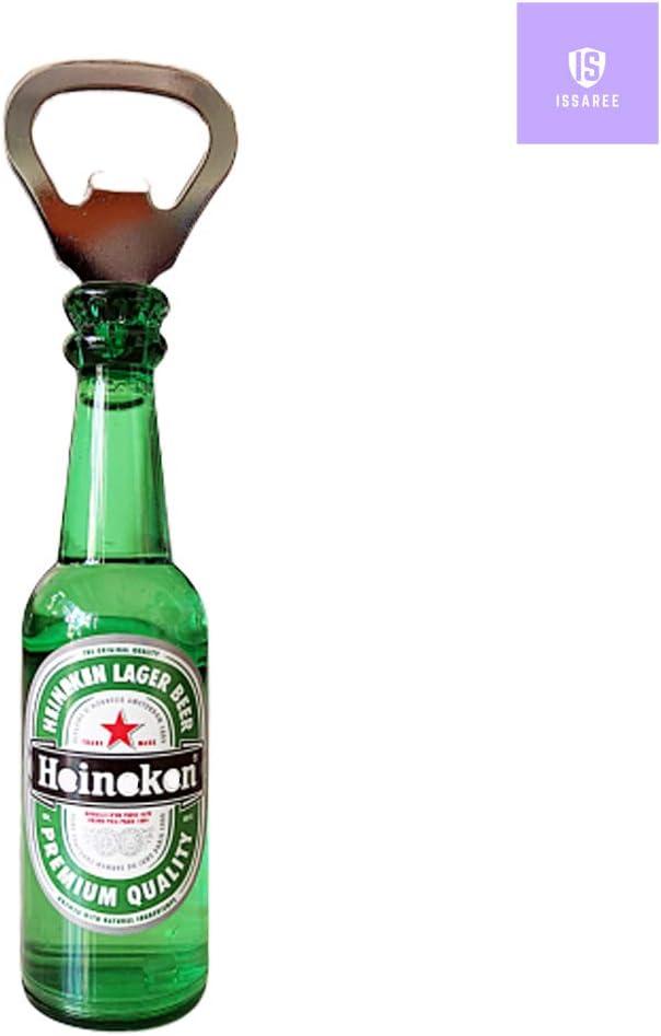 Magnetic Beer Bottle Opener Figure Beer Bottle Bar Refrigerator Decor Unique Birthday Gifts Collection (Green Beer)