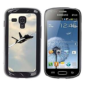 Be Good Phone Accessory // Dura Cáscara cubierta Protectora Caso Carcasa Funda de Protección para Samsung Galaxy S Duos S7562 // Navy F Hornet
