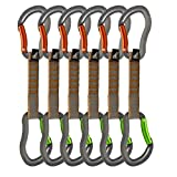 Fusion Quickdraw Set Of 6 Bent Gate/Bent Gate, Orange/Apple Green