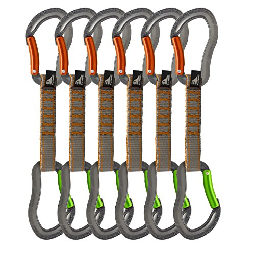 Fusion Quickdraw Set Of 6 Bent Gate/Bent Gate, Orange/Apple Green by Fusion
