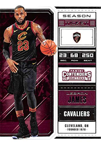 - 2018-19 Panini Contenders Draft Picks Basketball Season Ticket Variation #41 LeBron James Cleveland Cavaliers Official NBA Trading Card