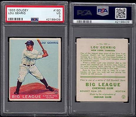 online retailer f003d ffeb8 Amazon.com: 1933 Goudey Regular (Baseball) card#160 lou ...