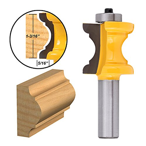 Yakamoz 1/2 Inch Shank Bullnose Bead Column Face Molding Router Bit For Woodworking Tools Diameter Beading Router Bit