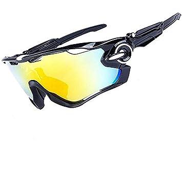 HTTOAR Gafas de Sol Deportivas al Aire Libre protección UV400 Bicicleta Gafas polarizadas, adecuadas para Ciclismo Gafas béisbol Pesca esquí Correr ...