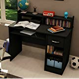 South Shore Small Desk - Great Writing Desk for Your Child - The Computer Desk Is Great for Your Kid's Bedroom or Any Small Area - Place a Laptop in This Study Table - 5 Years Warranty! (Black) by South Shore