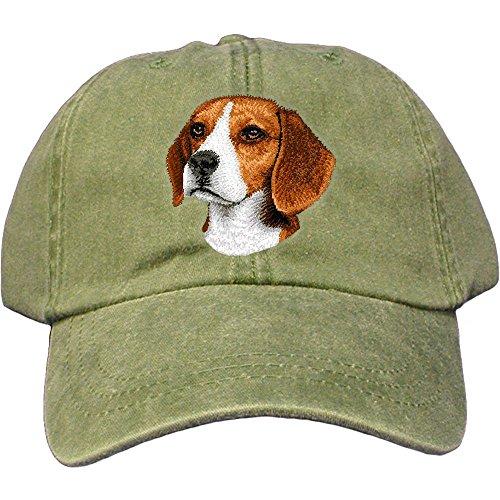 Cherrybrook Dog Breed Embroidered Adams Cotton Twill Caps - Spruce - Beagle