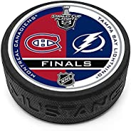 Mustang Product Montreal Canadiens v Tampa Bay Lightning 2021 Stanley Cup 3D Textured Puck