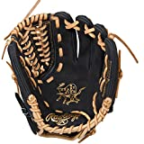Rawlings Men's Heart of the Hide Dual Core Infielder Glove, Left Hand, 11.5-Inch, Black