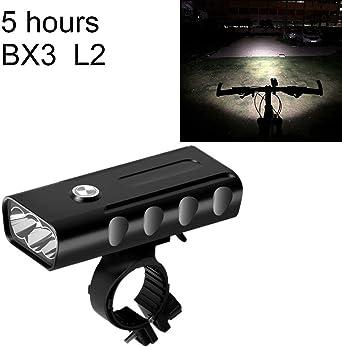 Luz LED BX3 USB de carga para bicicleta, luz LED delantera para ...