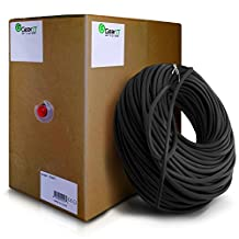 GearIt 304m 1000 Feet Bulk Cat6 Ethernet Cable - Cat 6e 550Mhz 24AWG Full Copper Wire UTP Pull Box, Black [Lifetime Warranty]