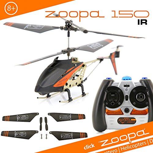 ACME - zoopa 150 Helikopter   Zoopa 150 IR   Gyro 2.0   Turbo  Alluminiumrahmen   Spaß für Groß und Klein  (AA0150)