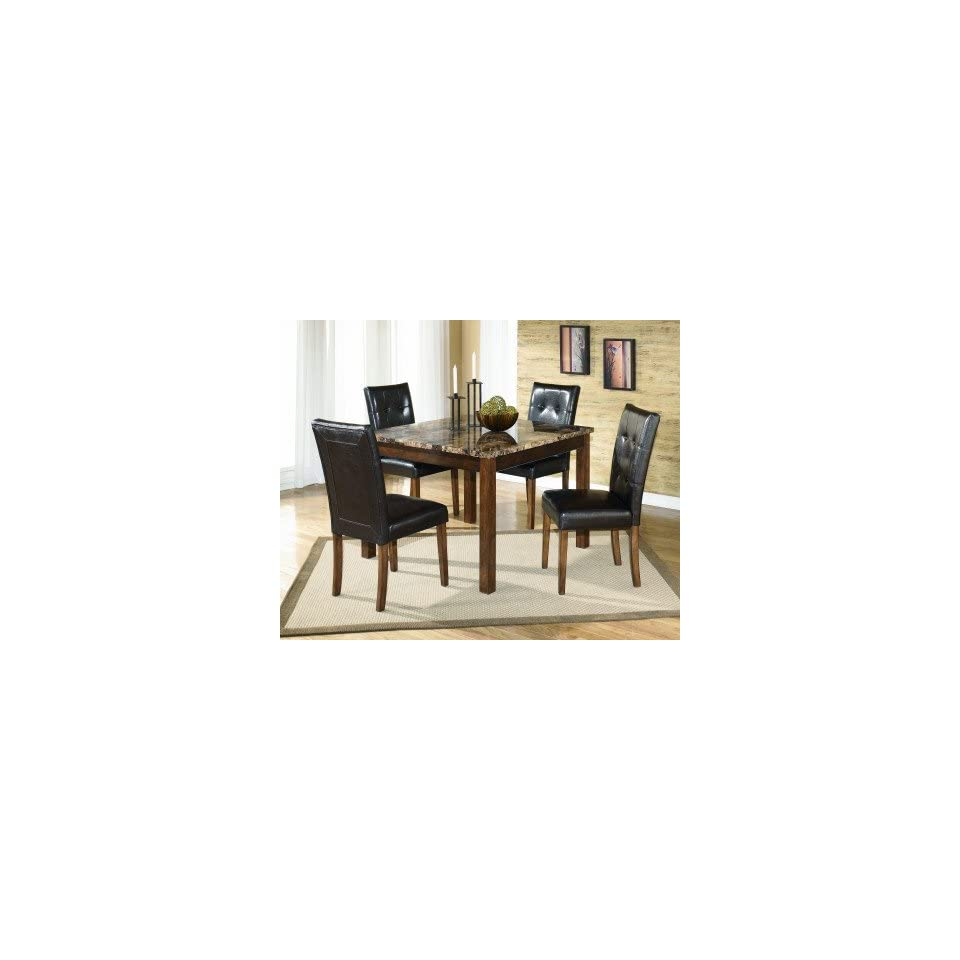 Signature Design by Ashley Theo Square Dining Table With 4 Chairs   Dining Room Furniture Sets