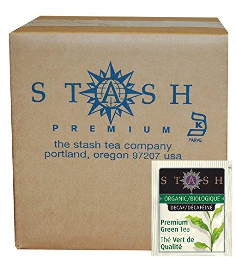Stash Tea Organic Green Tea Bags in Foil, Decaf Premium, 100