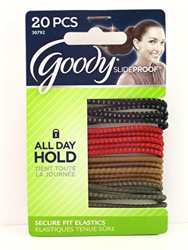 Goody Slideproof Ponytail Hair Elastics - 20 Pcs.