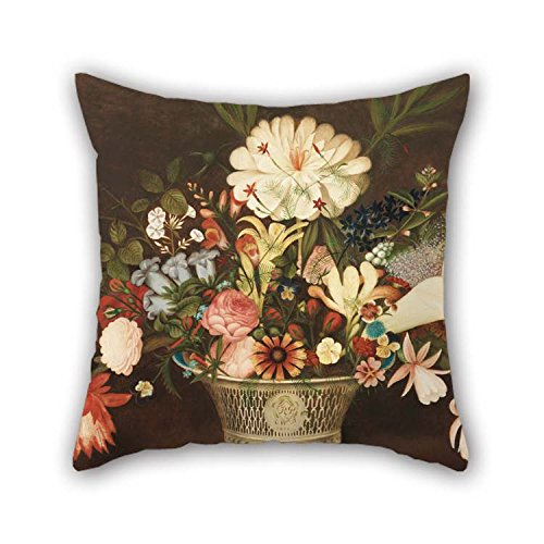 TonyLegner Pillow Shams of Oil Painting Rubens Peale, American - from Nature in The Garden 16 X 16 Inches / 40 by 40 cm Best Fit for Son Car Home Theater Home Office Bedroom Sofa Each Side -
