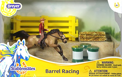 Breyer Stablemates Barrel Racing Horse and Cowgirl Playset