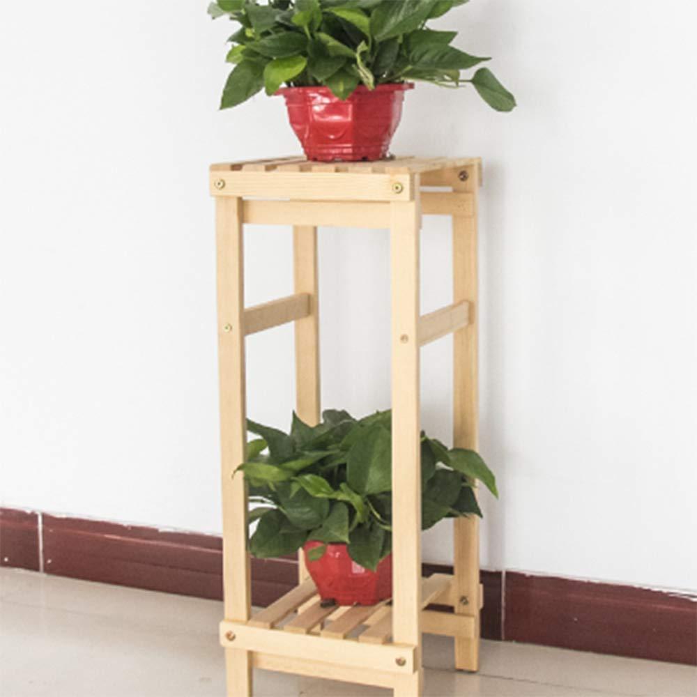 Espositore per piante con espositore per piante da Portafiore in legno massello singolo balcone coperto soggiorno Moderno Assemblaggio multi-strato minimalista moderno Ripiano fiore verde (Dimensioni