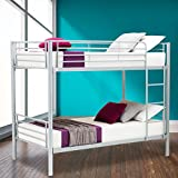 SUNCOO Metal Bunk Beds Frame 2x3FT Single Bed for Kids Childrens and Adults (Silver)