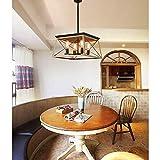 XIPUDA 4-Light Farmhouse Ceiling Pendant Light