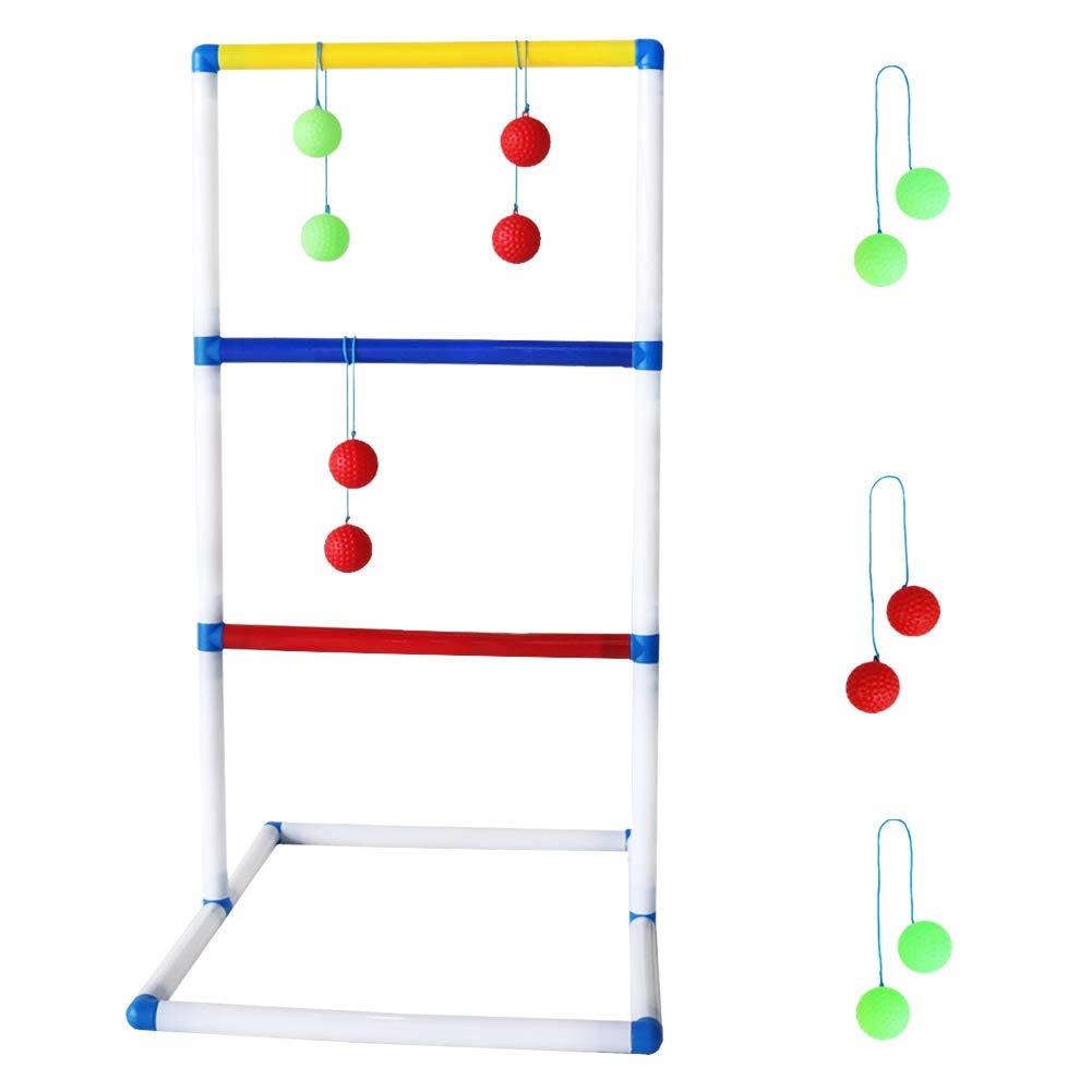 Akokie Leitergolf Spin Ladder Balls Wurfspiel Bälle Toss Geschicklichkeitsspiele Garden Strand Spiele Geschenke Für Kinder 3+ Jahre WODI TOYS FACTORY