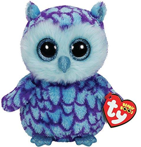 Beanie Baby Owl (TY Beanie Boo Plush - Oscar the Owl 15cm)