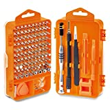 HORUSDY Precision Screwdriver Set with Phillips, More& Torx Bits, Non-Slip Magnetic Electronics Tool Kit (Color: Orange, Tamaño: Full Size)