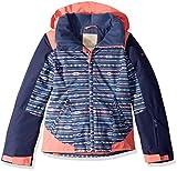 Roxy Little Sassy Girl Snow Jacket, Crown Blue_Indie Stripes, 8/S