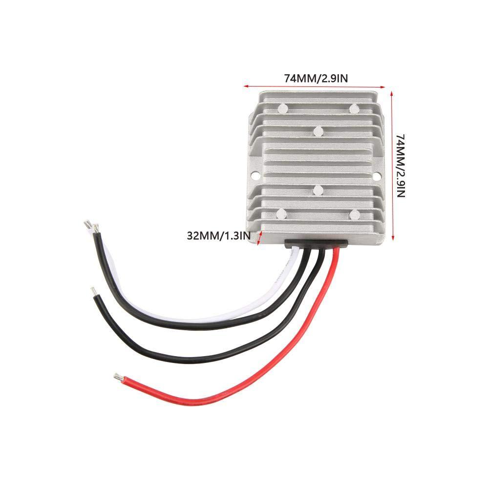 Akozon R/égulateur de Tension 12V /à 5V 24V /à 5V Convertisseur de Surtension LED Alimentation du R/égulateur de Tension DC 20A 100W