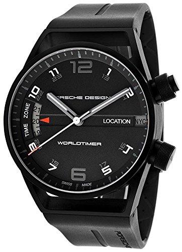 Porsche Design Worldtimer GMT Automatic Black PVD Titanium Mens Watch 6750.13.44.1180