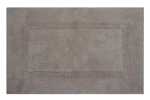 Better Trends / Pan Overseas 100-Percent Lux Cotton Reversible Bath Rugs, 21 by 34-Inch, Sand (The One Big Bath Rugs)