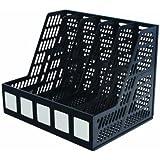 ADVANTUS 5-Compartment Magazine and Literature File, Black (34092)