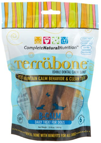 Complete Natural Nutrition Terrabone B-Calm Daily Treat for Dogs, Regular Size Bones,  6-Count Bag, My Pet Supplies