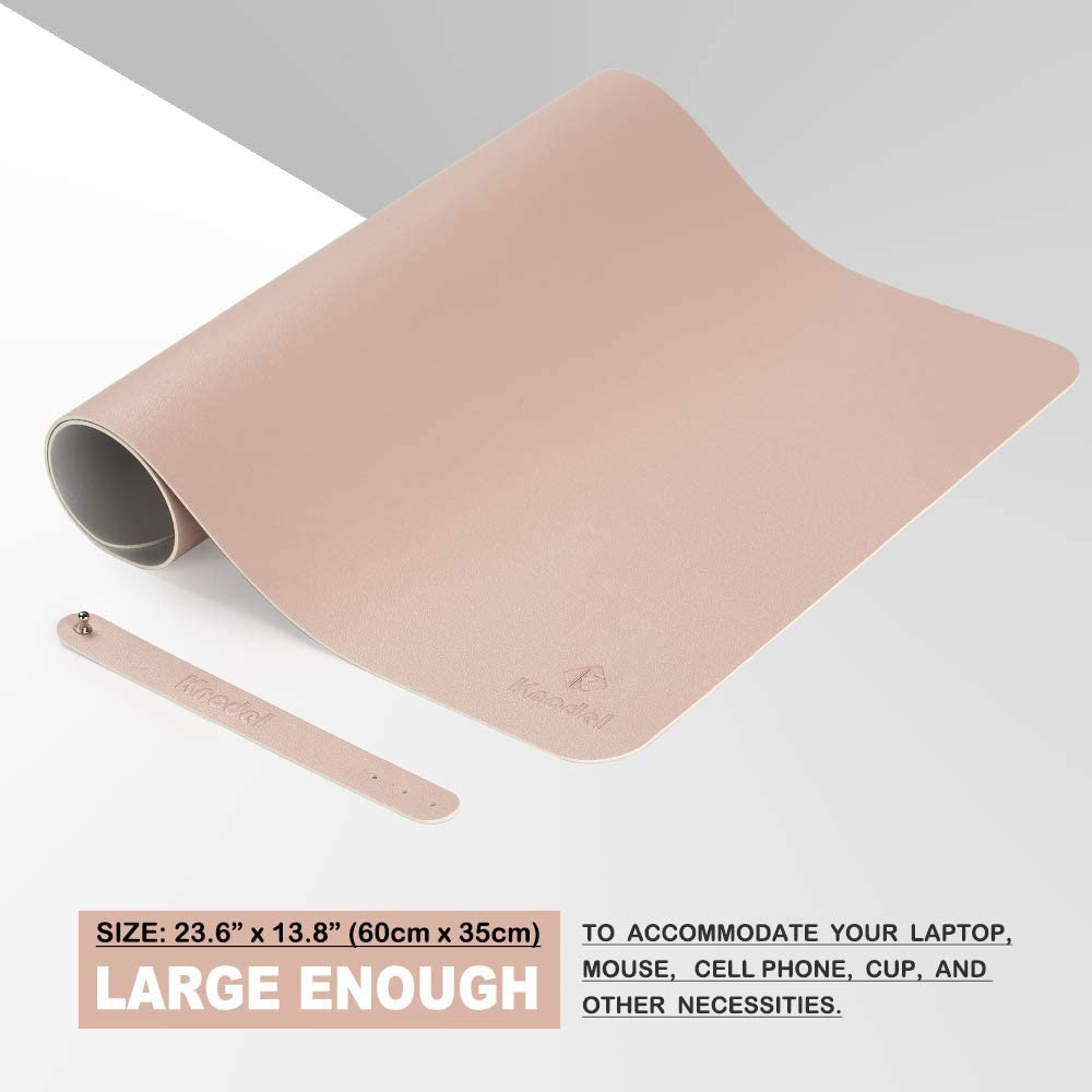 23.6 x 13.8 PU Leather Desk Blotter Purple Laptop Desk Mat Knodel Desk Pad Dual-Sided Office Desk Mat Waterproof Desk Writing Pad for Office and Home