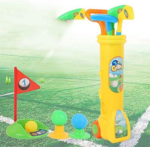 子供用のゴルフセット 男の子と女の子のためのゴルフクラブセット幼児教育、インドアとアウトドアスポーツのおもちゃ キッズ ゴルフ セット (Color : Yellow, Size : Free size)