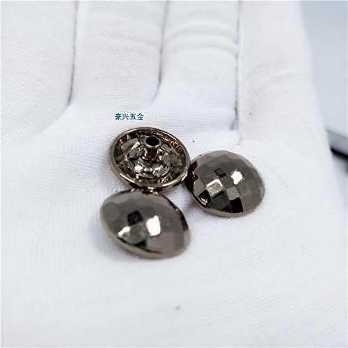 Mink fur cashmere coat buttons and more rhombohedral tea golden buttons 15mm semi-circular metal decorative buckle for Sewing Crafts Handmade Clothes DIY - Golden Mink Fur Coat