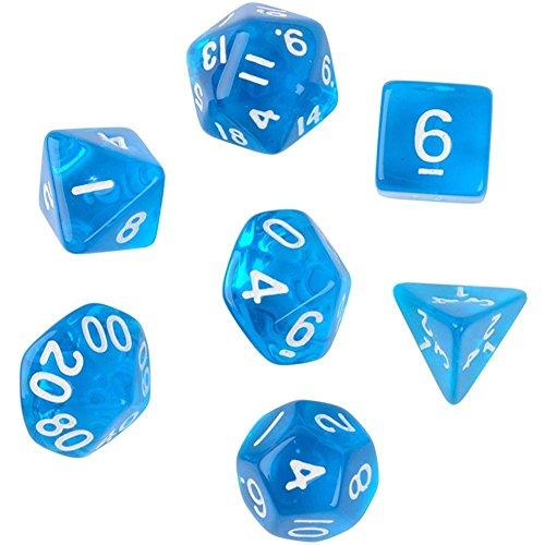 bleumoo-7pcs-set-trpg-games-dungeons-dragons-clear-d4-d20-multi-sides-dice-blue