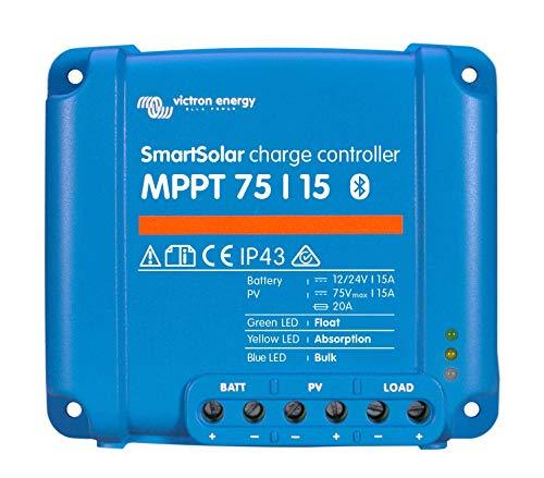 Victron SmartSolar Charge Controller with Built-In Bluetooth - MPPT 75/15 - 75 Volts, 15 Amps