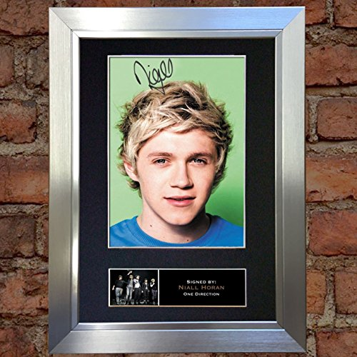 Niall Horan No2 One Direction Signed Autograph Mounted Photo A4 Print 316 Silver frame